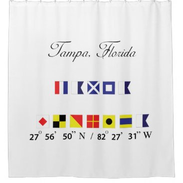 Tampa Florida Beach House Shower Curtain