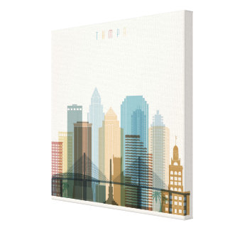 Tampa, Florida | City Skyline Canvas Print