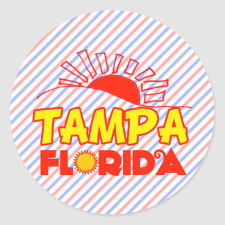 Tampa, Florida Classic Round Sticker