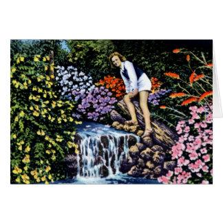 Tampa Florida Dupree Gardens Jasmine Falls Card