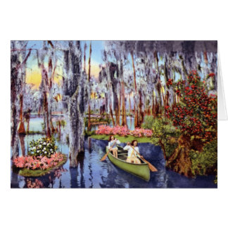 Tampa Florida Dupree Gardens Lagoon Card