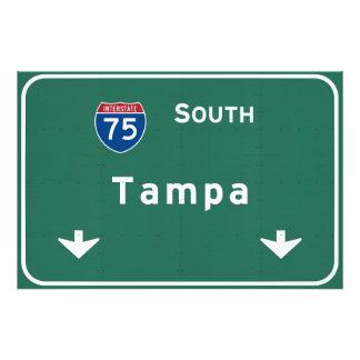 Tampa Florida fl Interstate Highway Freeway : Photo Print