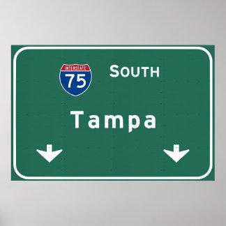 Tampa Florida fl Interstate Highway Freeway : Poster