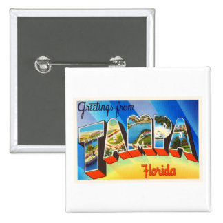 Tampa Florida FL Old Vintage Travel Souvenir Button
