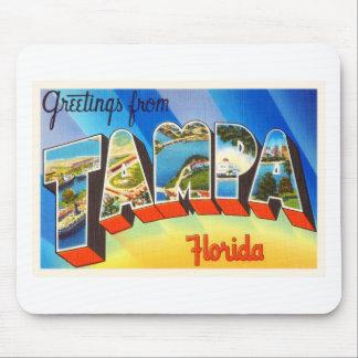 Tampa Florida FL Old Vintage Travel Souvenir Mouse Pad