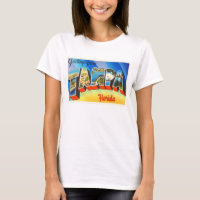 Tampa Florida FL Old Vintage Travel Souvenir T-Shirt