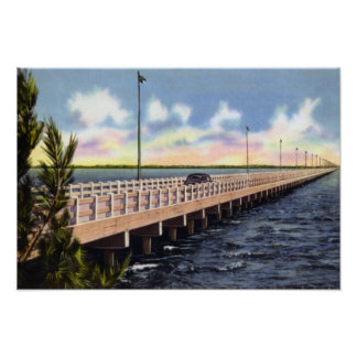 Tampa Florida Gandy Bridge Poster