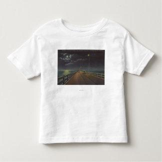 Tampa, Florida - Moonlit View of Gandy Bridge T-shirts