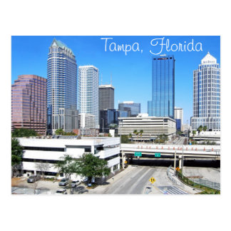 Tampa, Florida skyline as seen from the south Postcard
