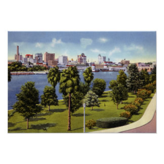Tampa Florida Skyline from Davis Island Poster