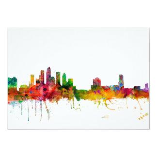 Tampa Florida Skyline 13 Cm X 18 Cm Invitation Card