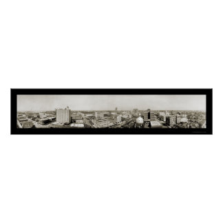 Tampa, Florida Skyline Photo 1921 Poster