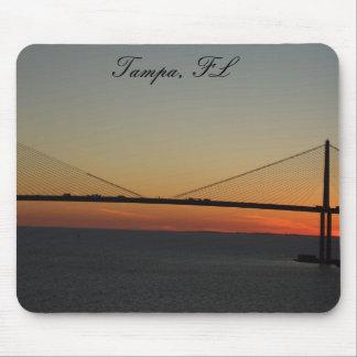 Tampa Florida Sunshine Skyway Bridge Sunset Mouse Pad