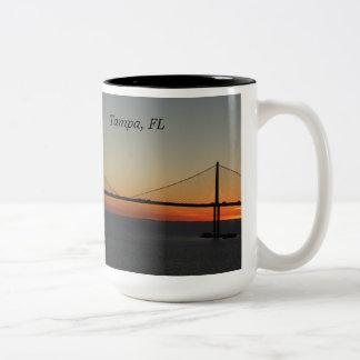 Tampa Florida Sunshine Skyway Bridge Sunset Mugs