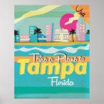 Tampa,Florida vintage Travel Poster.