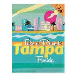 Tampa,Florida vintage Travel Poster. Postcards