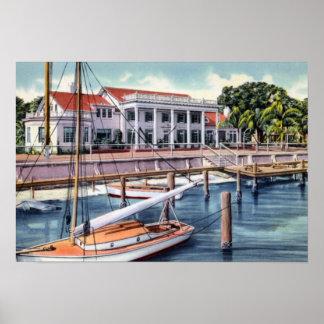 Tampa Florida Yacht Club Print