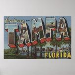 Tampa, FloridaLarge Letter ScenesTampa, FL Print