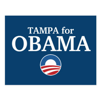 TAMPA for Obama custom your city personalized Postcard