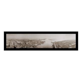 Tampa Harbor, FL Huge Photo 1914 Poster