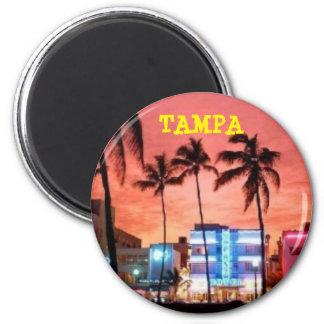 TAMPA, la Florida Imán Redondo 5 Cm