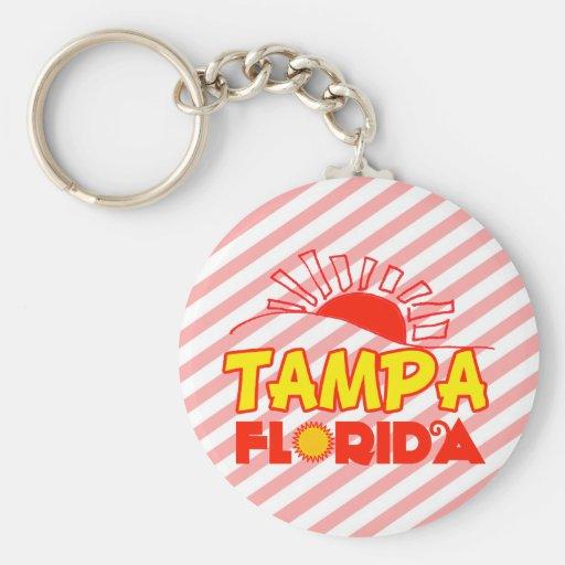 Tampa, la Florida Llavero Personalizado