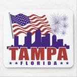 Tampa la Florida Mousepad patriótico Alfombrilla De Ratones