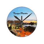 Tampa la Florida Reloj Redondo Mediano