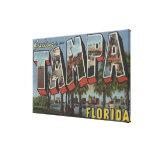 Tampa, letra ScenesTampa, FL de FloridaLarge Impresiones En Lona Estiradas