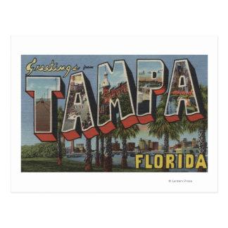 Tampa, letra ScenesTampa, FL de FloridaLarge Tarjeta Postal