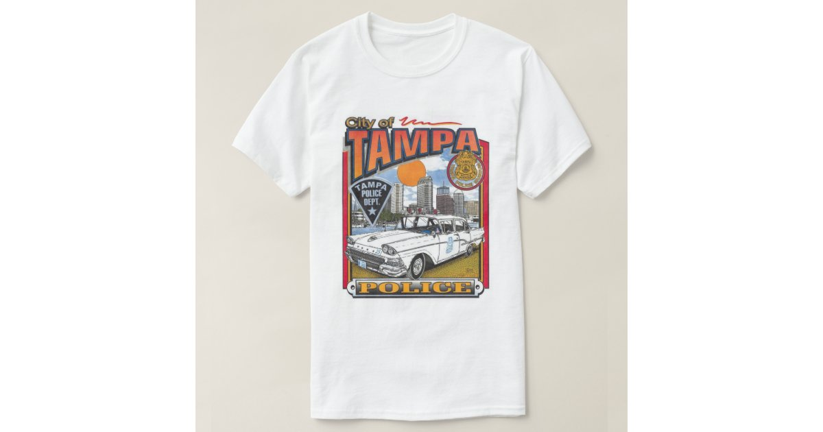 Tampa police department vintage t shirt zazzle for Tampa t shirt printing