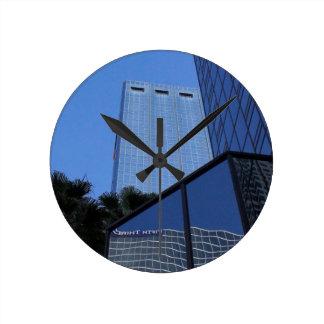 Tampa Skyscraper Round Clock