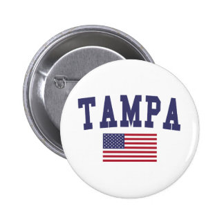 Tampa US Flag Pinback Button