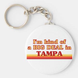 TAMPAaI un poco una GRAN COSA en Tampa Llavero Redondo Tipo Pin