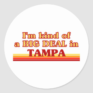 TAMPAaI un poco una GRAN COSA en Tampa Pegatina Redonda