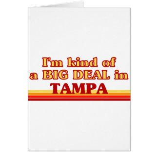 TAMPAaI un poco una GRAN COSA en Tampa Tarjeta De Felicitación