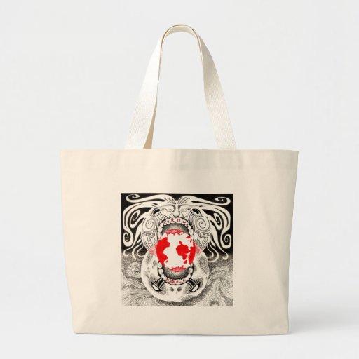 Tamsin negro y rojo Doherty de nuestro propio mund Bolsa De Tela Grande