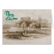 Tamworth Castle & Mill Christmas Card