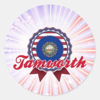 Tamworth, NH Etiquetas Redondas