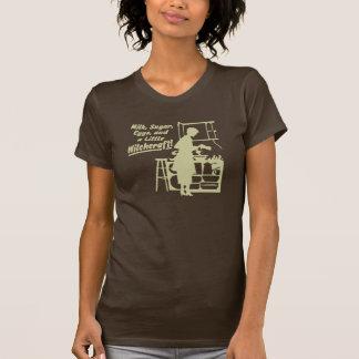 """Tan """"A LITTLE WITCHCRAFT"""" Womens T-Shirt"""