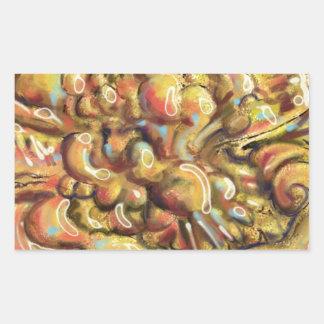 Tan Abstract Art Thing Rectangular Sticker