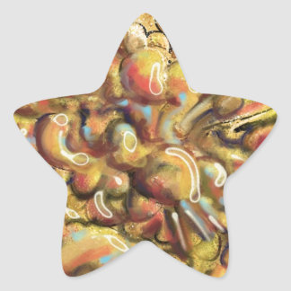 Tan Abstract Art Thing Star Sticker