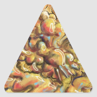 Tan Abstract Art Thing Triangle Sticker