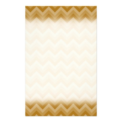 "Tan and Beige Zigzag Stripes. 5.5"" X 8.5"" Flyer"