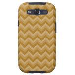 Tan and Beige Zigzag Stripes. Galaxy S3 Case