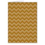 Tan and Beige Zigzag Stripes. Greeting Card