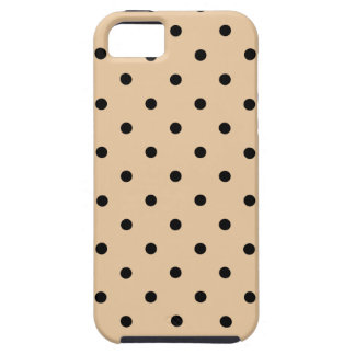 Tan and Black Polka Dot Pattern. iPhone SE/5/5s Case