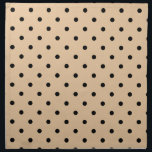 "Tan and Black Polka Dot Pattern. Napkin<br><div class=""desc"">A pattern of polka dots in a light brown - tan color with black dots.</div>"
