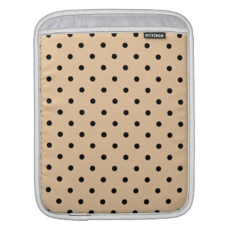 Tan and Black Polka Dot Pattern. Sleeve For iPads