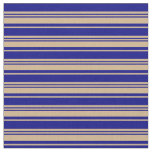 [ Thumbnail: Tan and Blue Colored Pattern Fabric ]